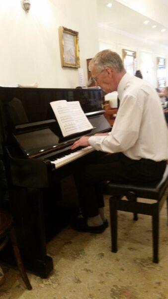 Harriet's Cafe tearoom piano