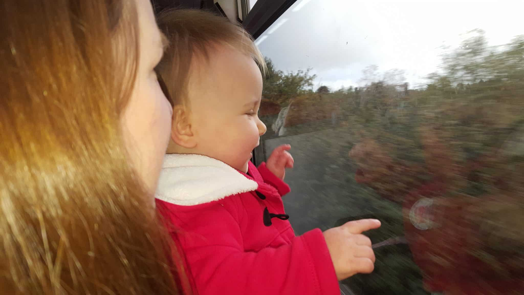 Me and Erin on the train