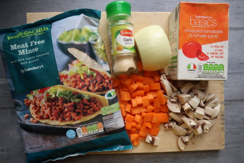 Vegetarian Bolognese For 60p per portion!