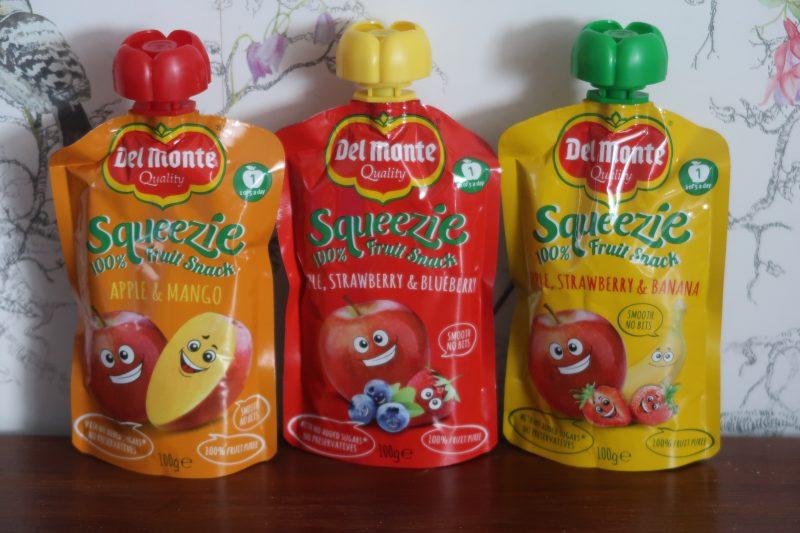 Del Monte Squeezie fruit pouches