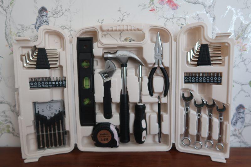 VonHaus Rose Gold 53pc Household Tool Set