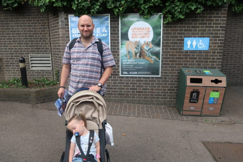 John and Erin at London Zoo