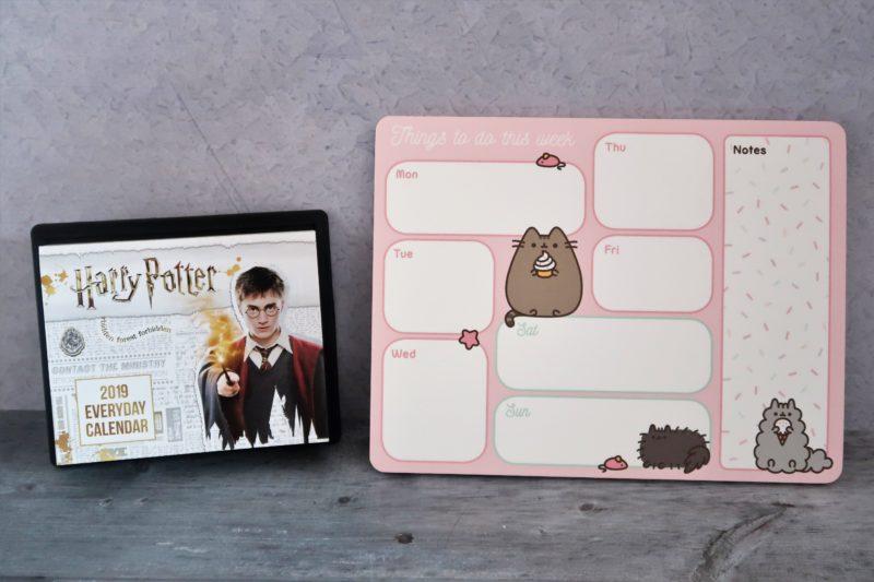 Harry Potter Desk Block and Pusheen Desk Pad
