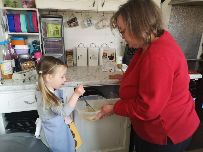 Erin and Grandma baking