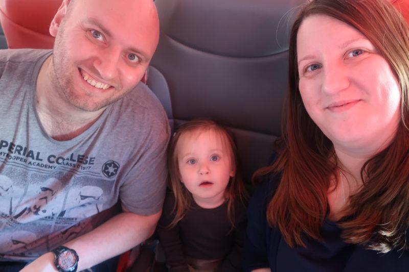 Erin's first flight