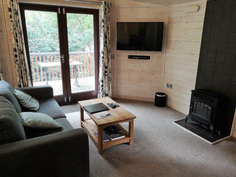 Kelling Heath 2 bedroom woodland lodge living area