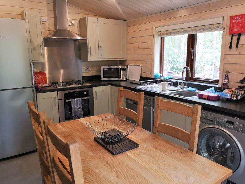 Kelling Heath 2 bedroom woodland lodge kitchen
