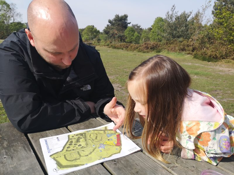 John and Erin map reading