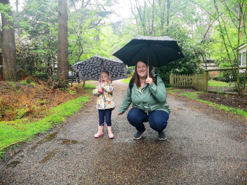 Me and Erin playing in the rain