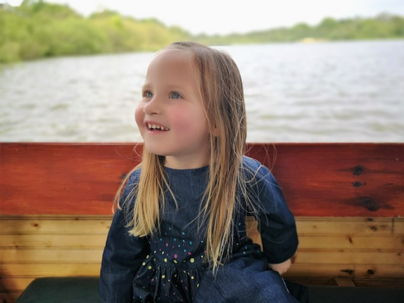 Erin on a boat