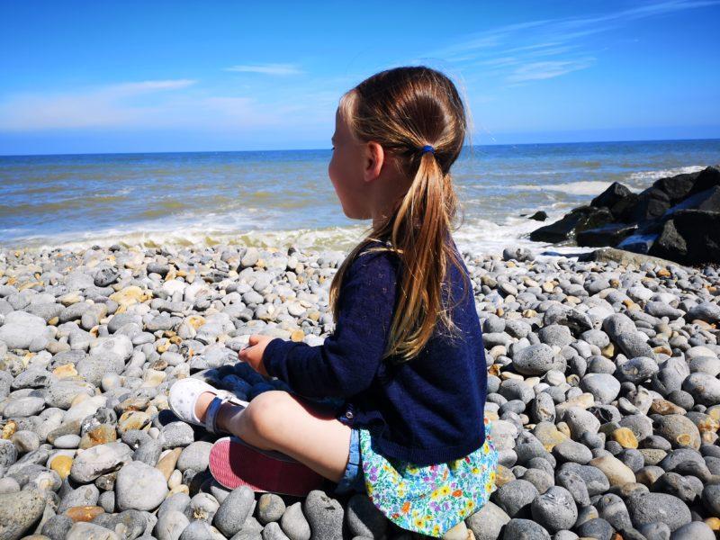 Erin on Sheringham beach