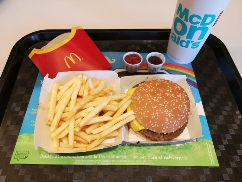 McDonald's lunch at intu Chapelfield