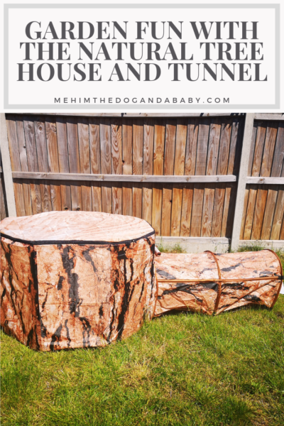 Garden Fun With The Natural Tree House and Tunnel