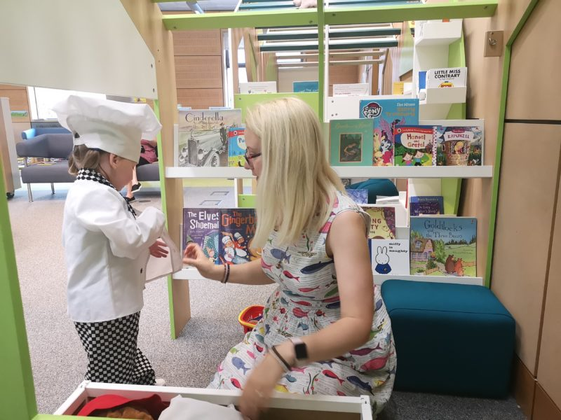 Fun at Norwich Millenium Library
