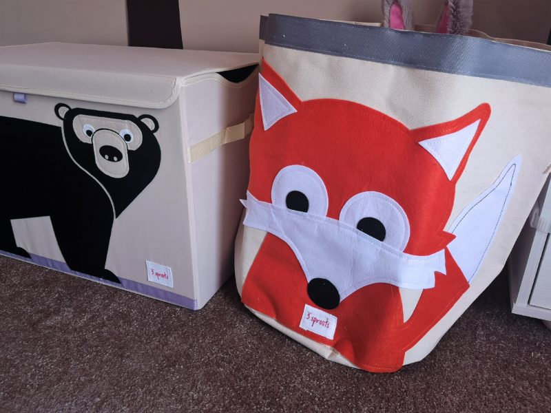 3 Sprouts Fox Storage Bin (Extra Large)