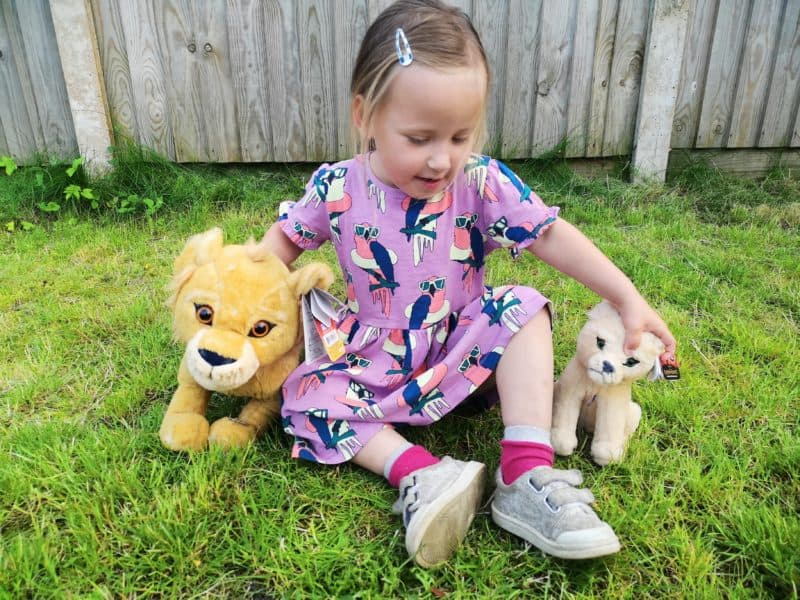 Erin and The Lion King plush toys