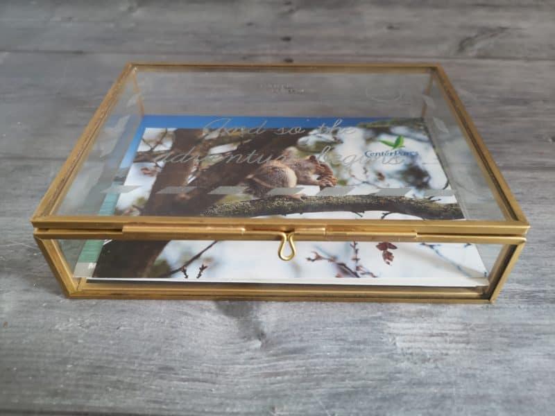 Postcard keepsake box
