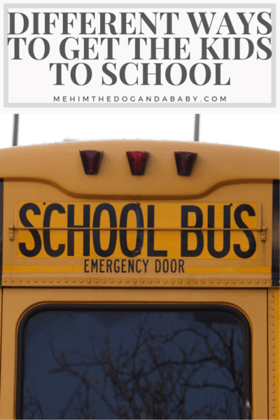 Different Ways To Get The Kids To School