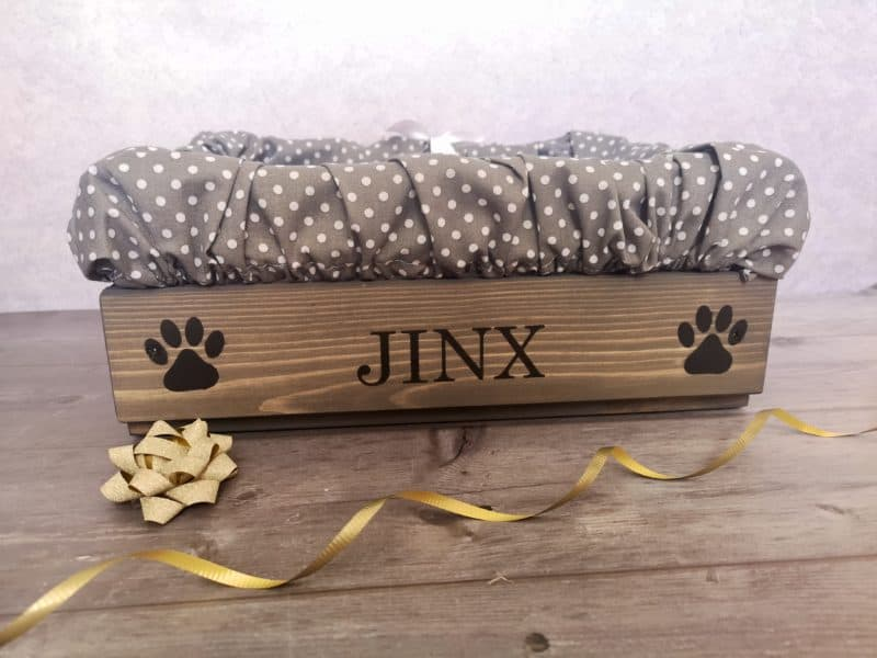 Personalised Grey Wooden Pet Toy Box