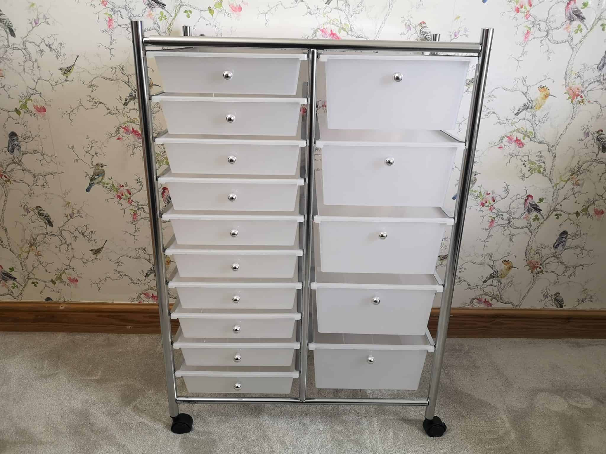 VonHaus 15 Drawer Trolley