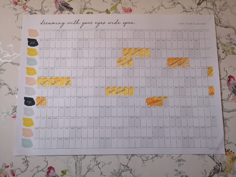 doodlelove wall planner