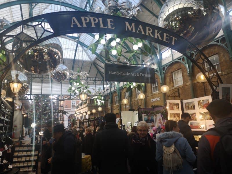 Covent Garden Christmas Apple Market