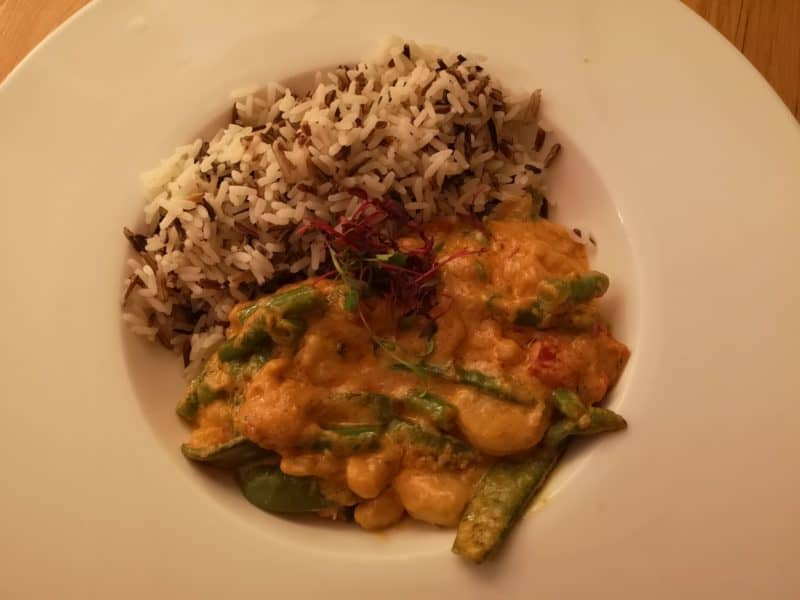 Prawn curry at The White Horse, Crostwick