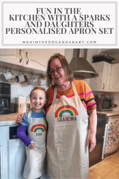Fun In The Kitchen With A Sparks And Daughters Personalised Apron Set