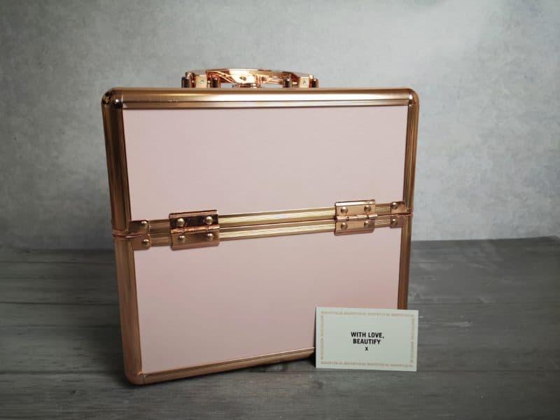 Small blush pink make up case - Beautify