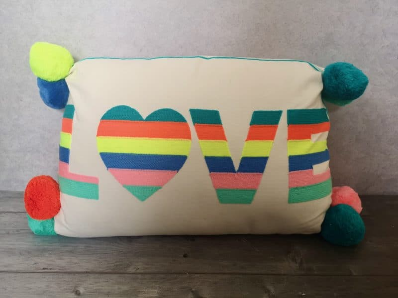 Love Stripes Cushion from Red Candy