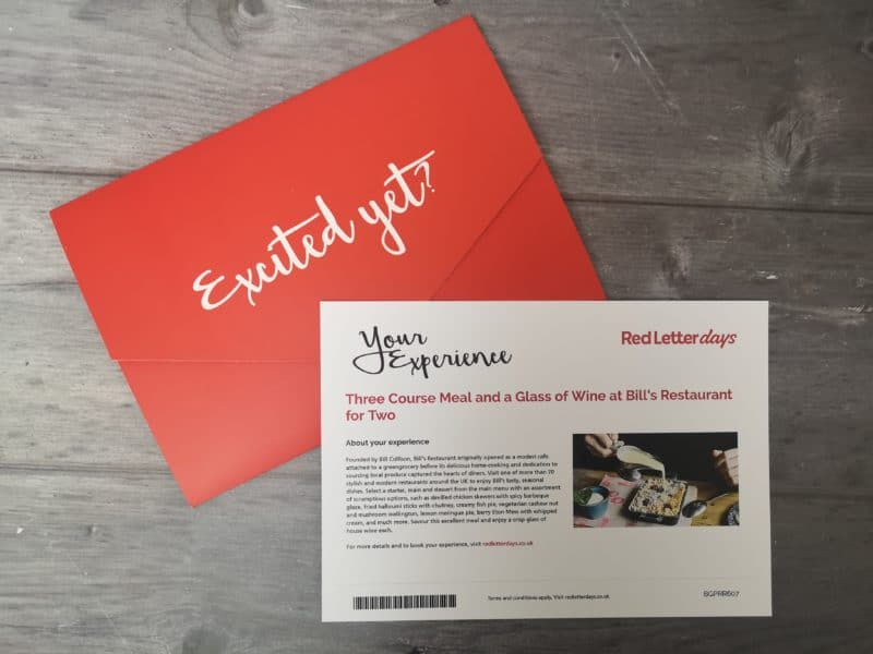 Red Letter Days experience voucher