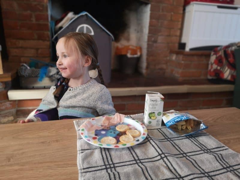Erin having a picnic on the Von Haus Capri Coffee Table