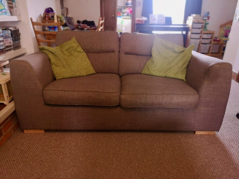 Charity shop sofa