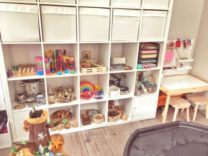 Play room storage