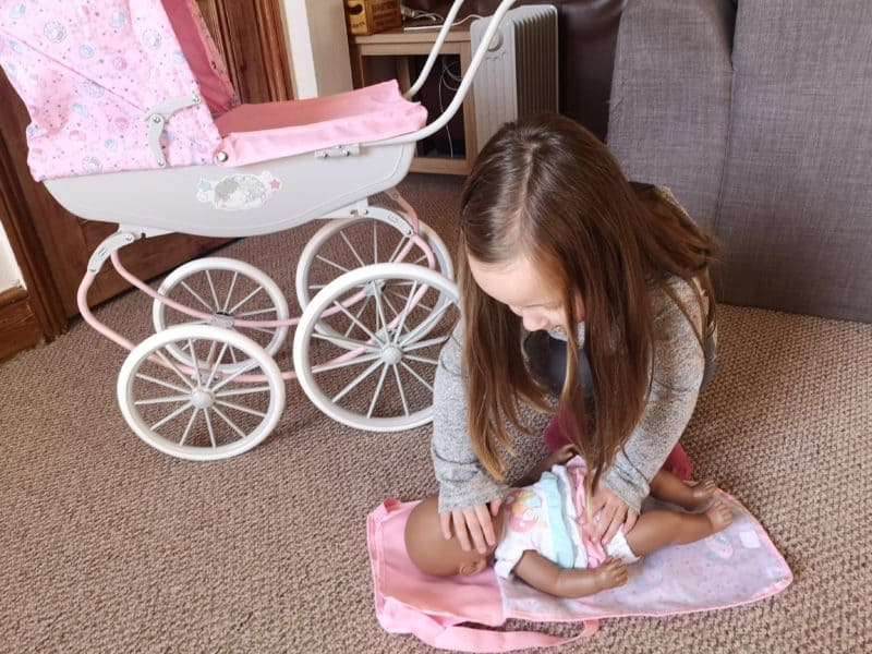 Baby Annabell Carriage Pram baby changing
