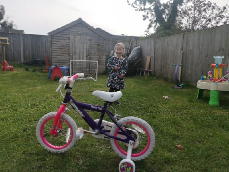 Erin and her first pedal bike