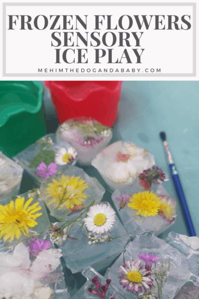 Frozen Flowers Sensory Ice Play