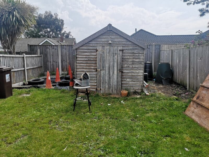 Old shed in garden