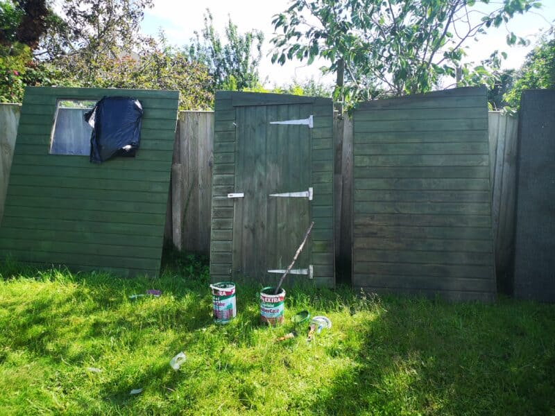 Painted fence panels
