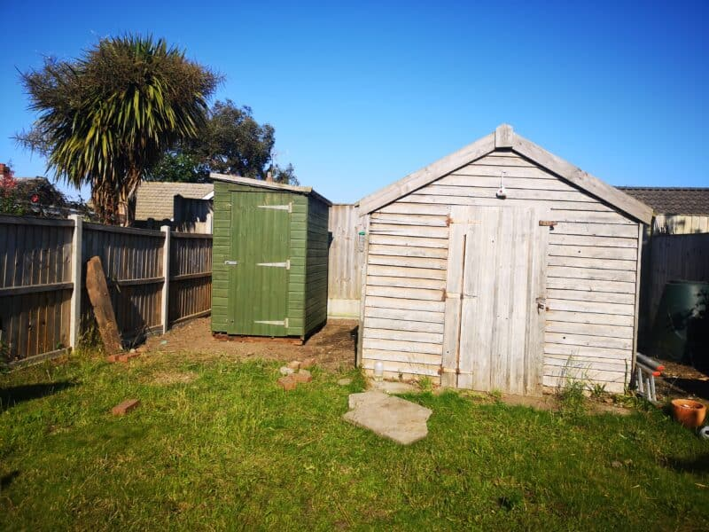 New shed next to old shed