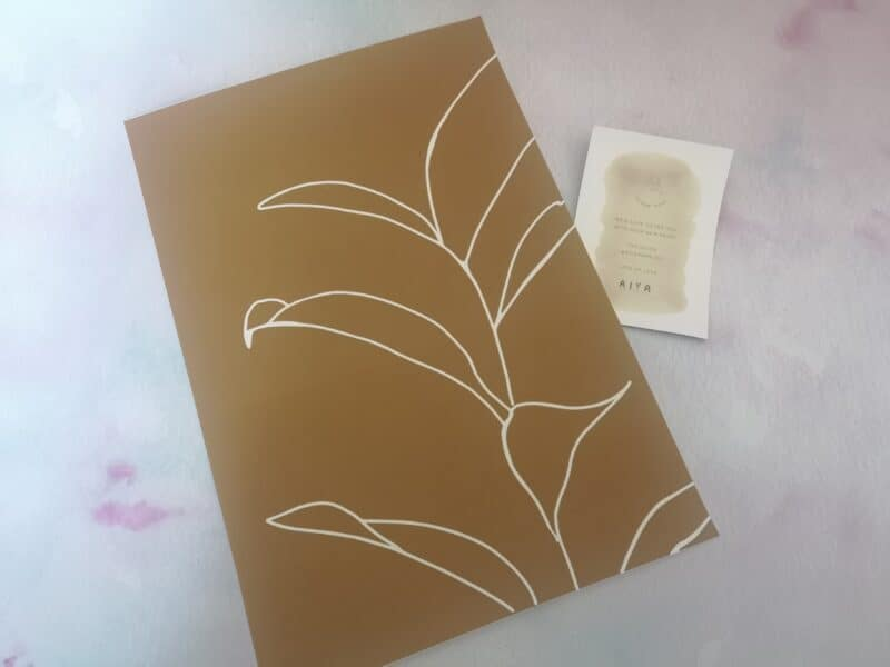 plant print from Aiya Home