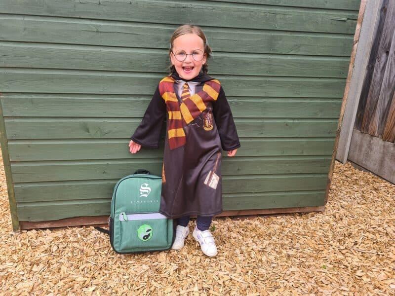 Harry Potter Slytherin Green Shield Logo Backpack 1