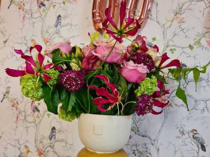Luxury Summer Garden Bouquet in vase