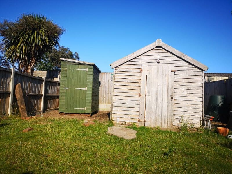 New and old shed