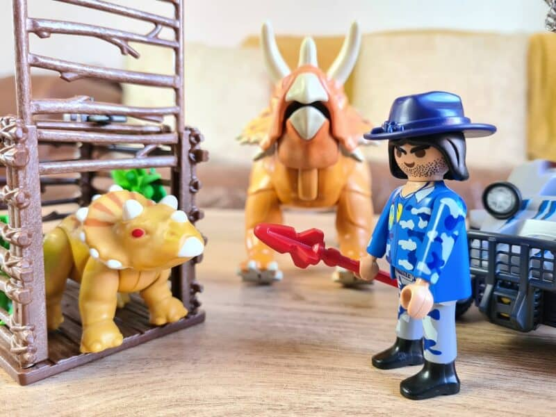 Playmobil Dinos Enemy Quad with Triceratops