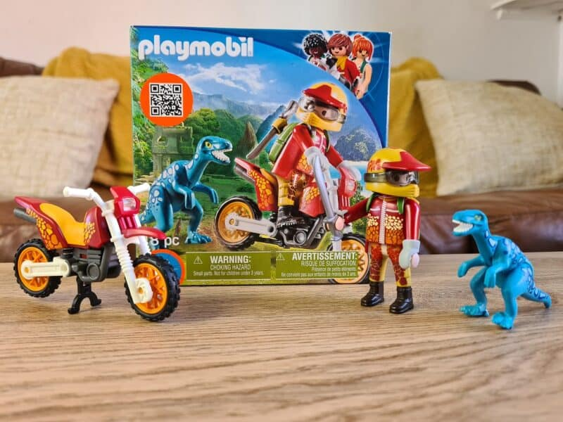Playmobil Dinos Motorcross with Raptor