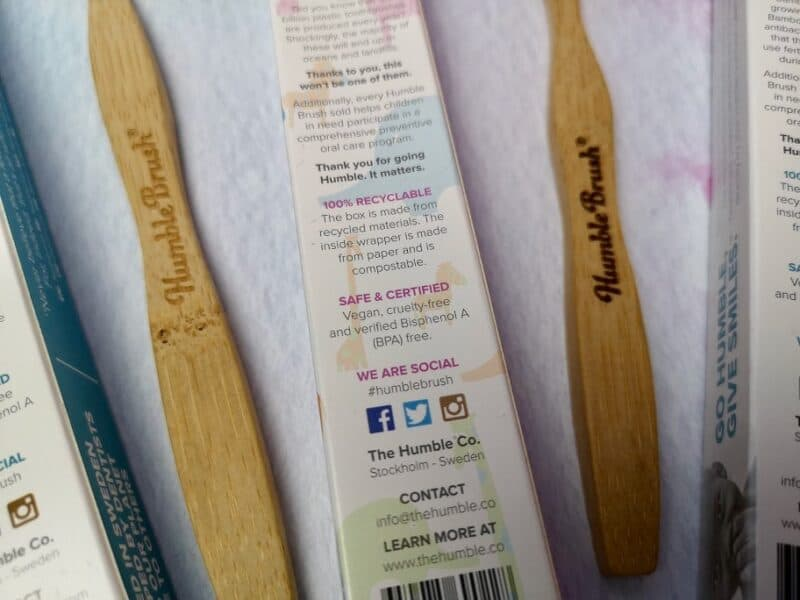 The Humble Co Humble Brushes packaging