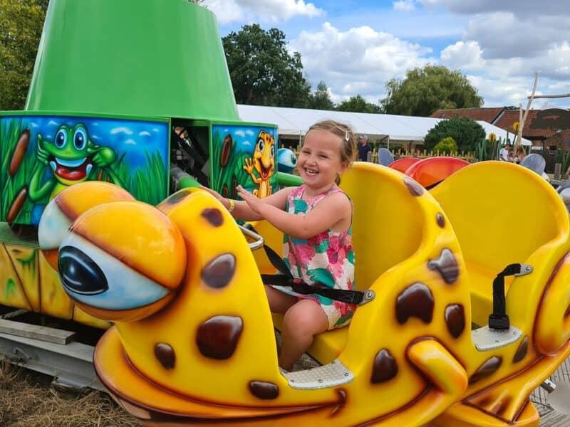 Wroxham Barns - Erin on a frog ride