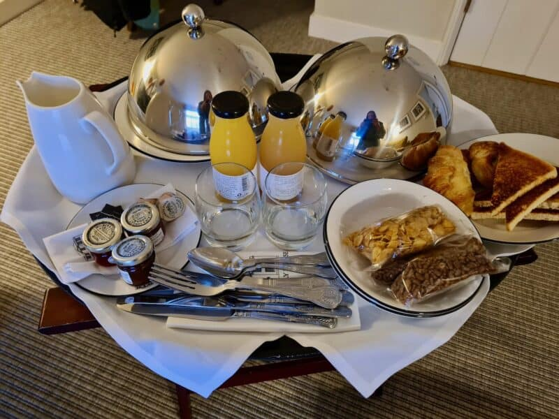 Room service breakfast at The Assembly House
