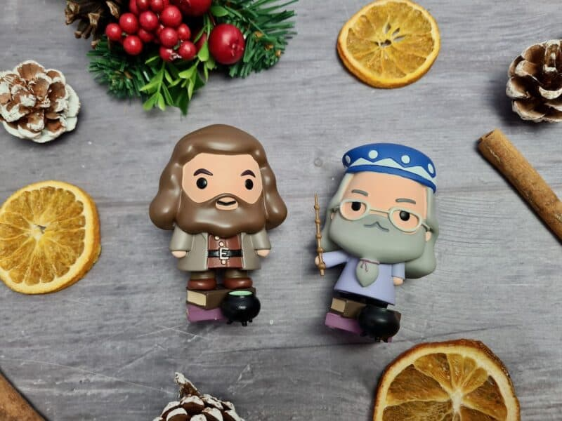 Dumbledore and Hagrid figurines